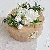 Свадебные букеты ручной работы. Ярмарка Мастеров - ручная работа Шкатулка для колец - Garden moss. Handmade.