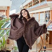 Одежда ручной работы. Ярмарка Мастеров - ручная работа Куртка-пелерина из кашемира, арт. 5801. Handmade.