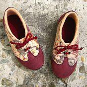 Обувь ручной работы. Ярмарка Мастеров - ручная работа Шерстяные туфли, две готовые пары.. Handmade.