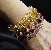 Украшения handmade. Livemaster - original item Multi-row bracelet Natural stones STONES IN BLOOM. Handmade.