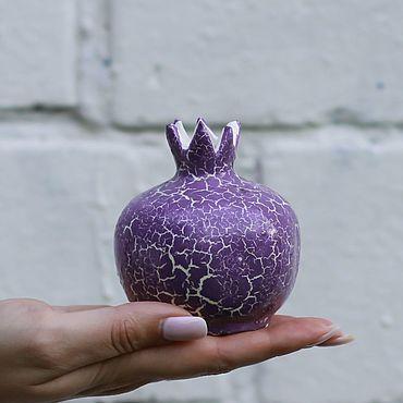 Посуда ручной работы. Ярмарка Мастеров - ручная работа Керамическая вазочка (гранат сиреневый малый). Handmade.