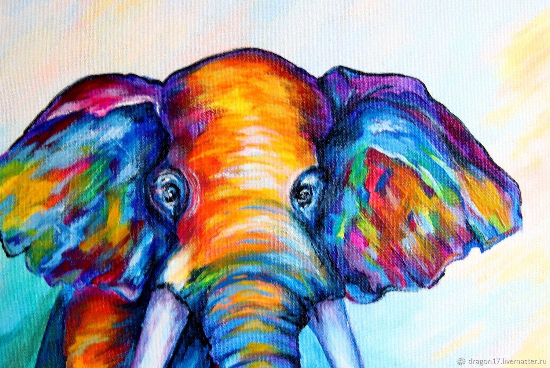 картинки с радужными слонами про писала про