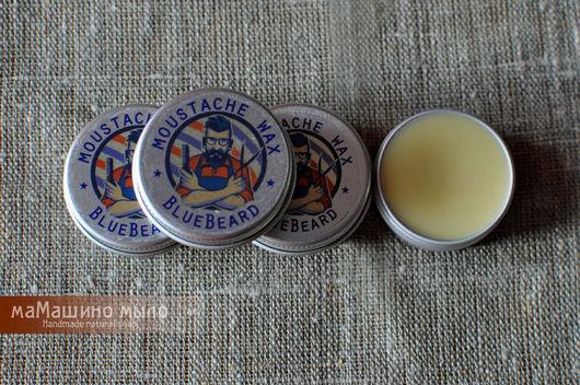 Воск для усов  BlueBeard, средства для усов, для формы усов, ухаживать за усами, косметика для мужчин, маМашино мыло