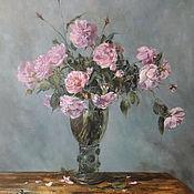 """Картины и панно ручной работы. Ярмарка Мастеров - ручная работа Картина """"Розы"""" Холст на подрамнике, масло. Handmade."""