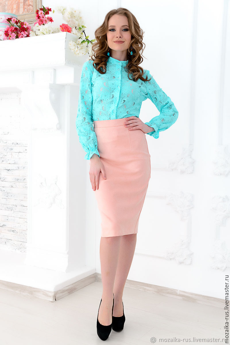 Pencil skirt from ecosense Peach, Skirts, Novosibirsk,  Фото №1