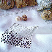 Для дома и интерьера handmade. Livemaster - original item napkin linen. Hand embroidery. Hemstitch Sea. Handmade.