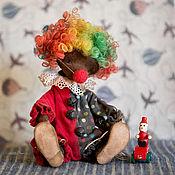 Куклы и игрушки ручной работы. Ярмарка Мастеров - ручная работа Мишка-клоун Димка. Handmade.