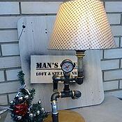 Для дома и интерьера ручной работы. Ярмарка Мастеров - ручная работа Светильник из водопроводных труб Running Man. Handmade.