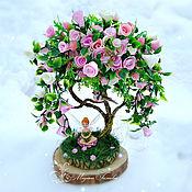 Подарки к праздникам ручной работы. Ярмарка Мастеров - ручная работа Розовое деревце. Handmade.