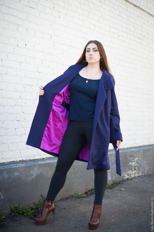 Верхняя одежда ручной работы. Ярмарка Мастеров - ручная работа. Купить Новинка - Легкое пальто на подкладке - фиолетовое. Handmade.