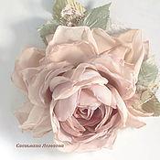 Украшения handmade. Livemaster - original item Brooch flower fabric chiffon rose