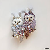 Brooches handmade. Livemaster - original item Brooches Owl