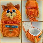 """Куклы и игрушки ручной работы. Ярмарка Мастеров - ручная работа Шкатулка """"Рыжий Кот"""". Handmade."""
