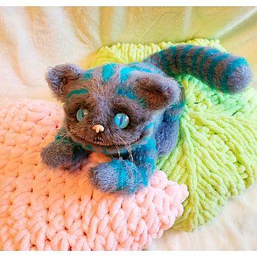 Куклы и игрушки ручной работы. Ярмарка Мастеров - ручная работа Чеширский котик вязанный. Handmade.