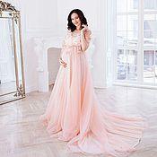 Одежда ручной работы. Ярмарка Мастеров - ручная работа Будуарное платье для беременных. Handmade.