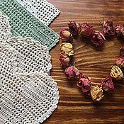 Подарки к праздникам ручной работы. Ярмарка Мастеров - ручная работа Салфетки - валентинки). Handmade.
