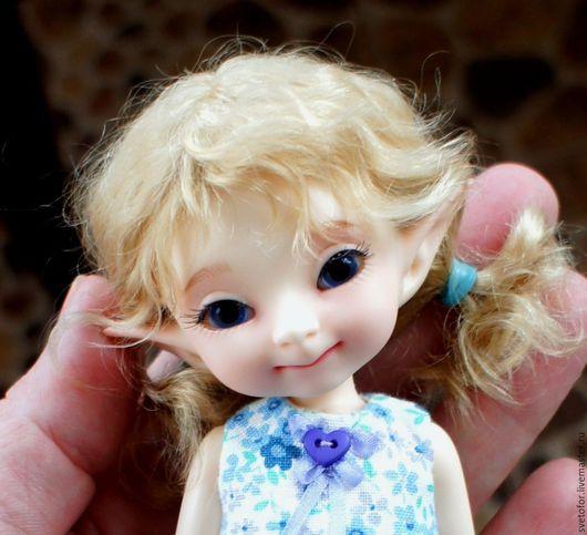 Одежда для кукол ручной работы. Ярмарка Мастеров - ручная работа. Купить Паричок для PukiFee девочки. Handmade. Бежевый, волосы для кукол