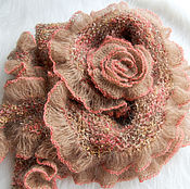Аксессуары handmade. Livemaster - original item Shawl knitted with kid-Kocher
