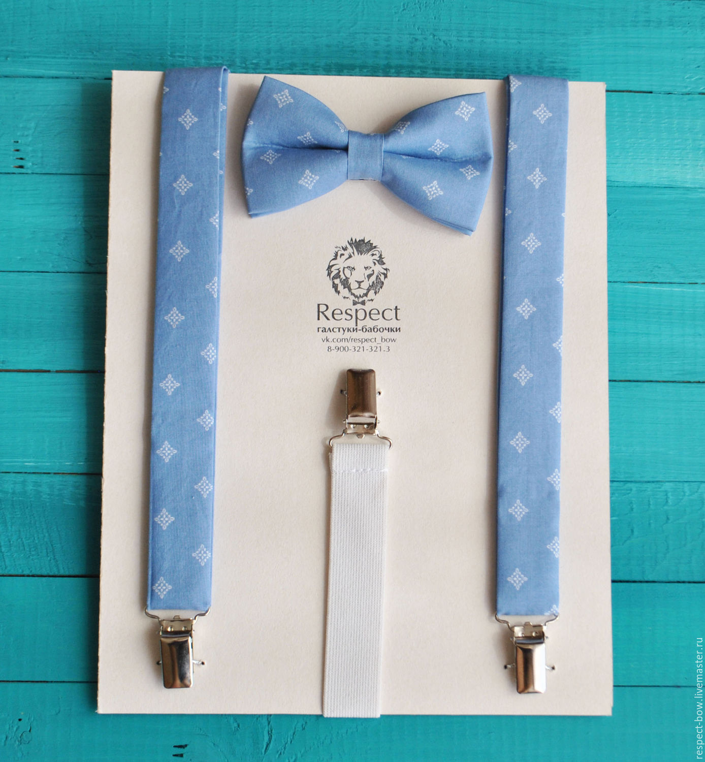 a3564b50c1e0 Tie Milord / blue bow tie, blue wedding – shop online on Livemaster ...