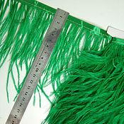 handmade. Livemaster - original item Trim of ostrich feathers 10-15 cm green. Handmade.