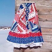 Одежда ручной работы. Ярмарка Мастеров - ручная работа Пэчворк - летняя яркая юбка из хлопка.. Handmade.