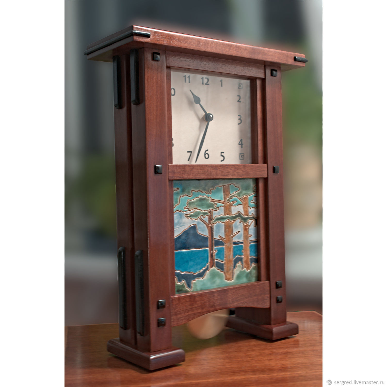 Large mahogany table clock, Watch, St. Petersburg,  Фото №1