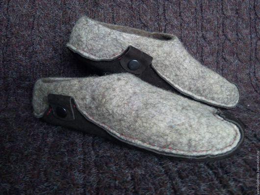 """Обувь ручной работы. Ярмарка Мастеров - ручная работа. Купить Тапки войлочные """"эко"""". Handmade. Бежевый, бергшаф"""