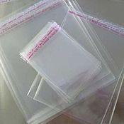 Материалы для творчества ручной работы. Ярмарка Мастеров - ручная работа Пакеты упаковочные прозрачные 12х15+3 см со скотчем. Handmade.