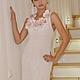 """Платья ручной работы. Ярмарка Мастеров - ручная работа. Купить Платье""""Ажурное лето"""" Белый цвет. Handmade. Белый, валяние из шерсти"""