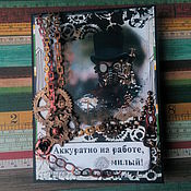 Открытки handmade. Livemaster - original item !The handmade card. MEN`S STEAMPUNK THEME. Handmade.