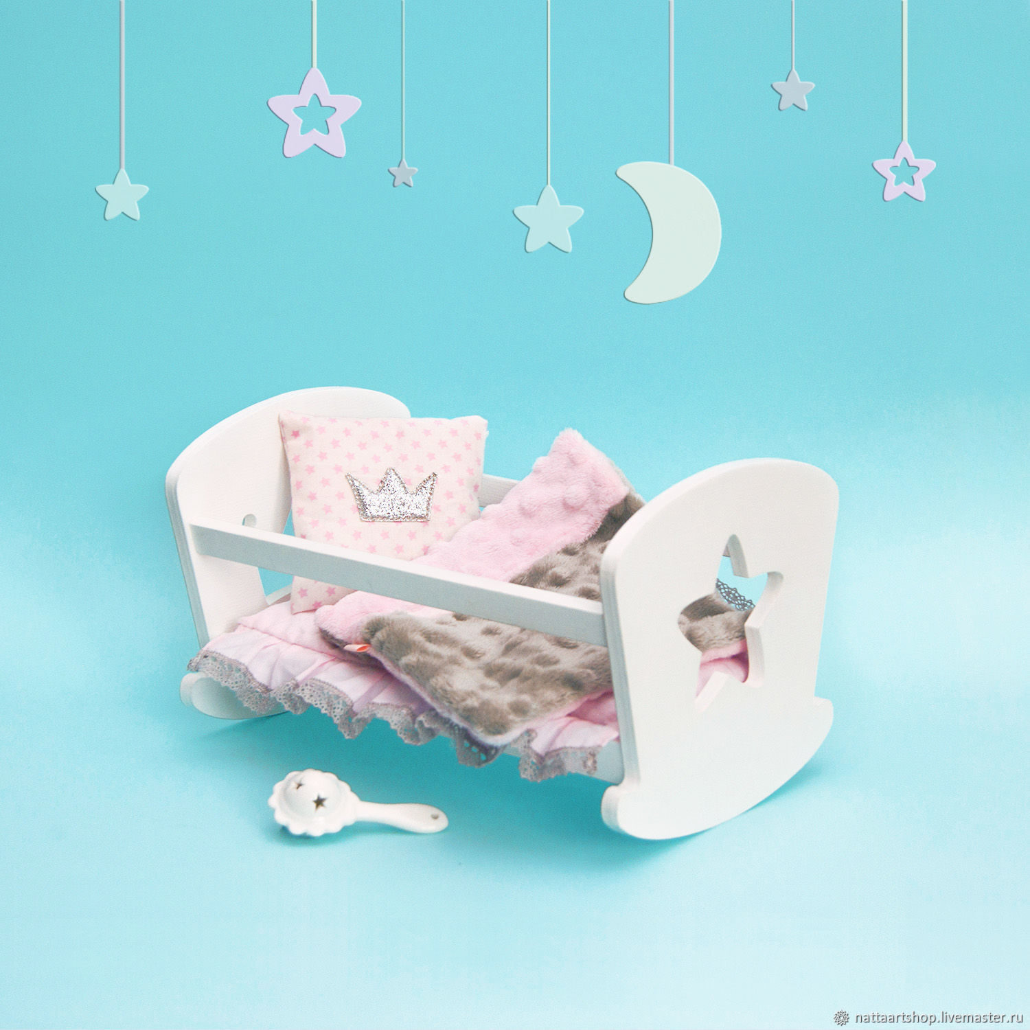 cot for dolls 20 cm, Doll furniture, Moscow,  Фото №1