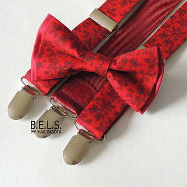 Аксессуары ручной работы. Ярмарка Мастеров - ручная работа Бабочка + помощи бордовые цветы. Handmade.