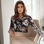 Одежда handmade. Livemaster - original item The blouse is of silk. Handmade.