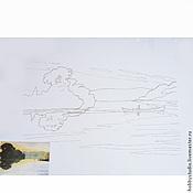 Картины и панно ручной работы. Ярмарка Мастеров - ручная работа Бумага акварельная на картоне с контуром. Handmade.