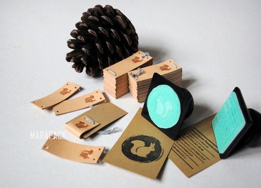 Упаковка ручной работы. Ярмарка Мастеров - ручная работа. Купить Кожаные нашивки с вашим логотипом. Handmade. Комбинированный