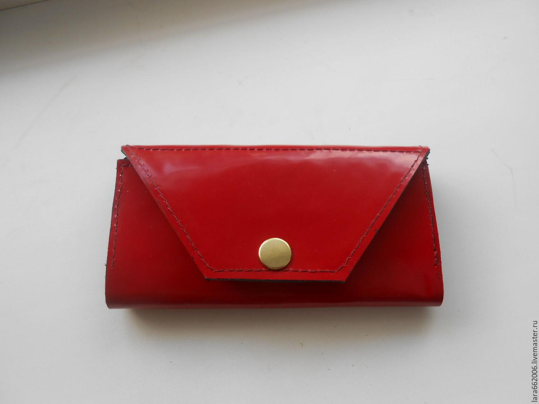 bd4e51326a2b Женский кошелек из красной лаковой итальянской натуральной кожи, кошелек из  кожи, красный кошелек, ...
