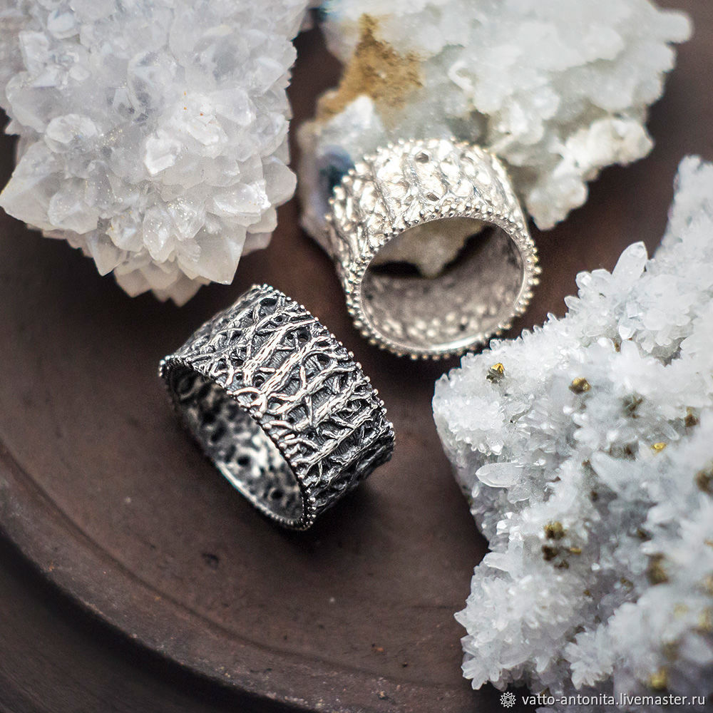Обручальные кольца Волшебный Лес из серебра (пара), Кольца, Кунгур,  Фото №1