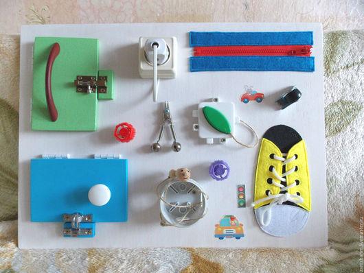 Развивающие игрушки ручной работы. Ярмарка Мастеров - ручная работа. Купить Бизиборд - развивающая доска. Handmade. Бизиборд, белый