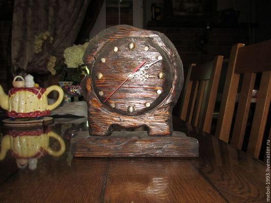 Часы для дома ручной работы. Ярмарка Мастеров - ручная работа. Купить Часы ВЕЧНОСТЬ. Handmade. Коричневый, часы для дома, браширование