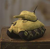 Куклы и игрушки ручной работы. Ярмарка Мастеров - ручная работа Плюшевая игрушка танк М-4. Handmade.