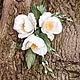 """Цветы ручной работы. """"Дама с Камелиями"""". Анна Юминова. Ярмарка Мастеров. Цветы в прическу, цветы из ткани, свадебный декор"""