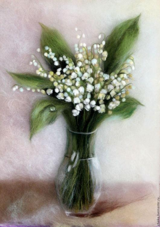 Картины цветов ручной работы. Ярмарка Мастеров - ручная работа. Купить Весенний букет. Handmade. Бежевый, цветы, белый