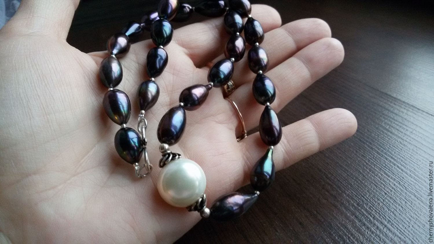 boho cultured jewelry st design black island tahitian gypsea bracelet pearls leathered beach stunning bohemian product barth