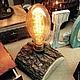 """Освещение ручной работы. Ярмарка Мастеров - ручная работа. Купить Настольная лампа """"Светлячок"""". Handmade. Коричневый, оформление интерьера"""