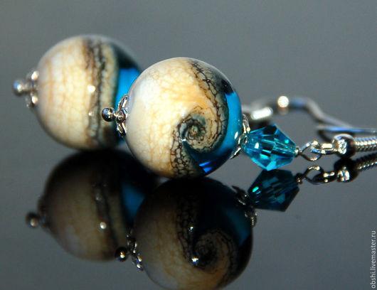 Серьги ручной работы. Ярмарка Мастеров - ручная работа. Купить серьги Море .... Handmade. Море, лемп, комбинированный
