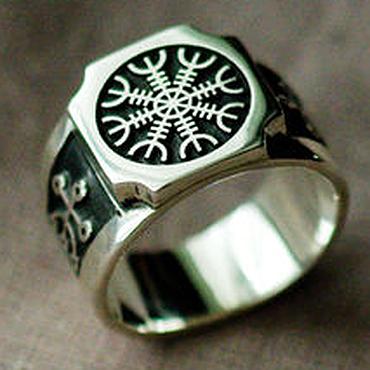 """Украшения ручной работы. Ярмарка Мастеров - ручная работа кольцо """"Агисхьяльм"""". Handmade."""
