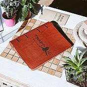 Канцелярские товары handmade. Livemaster - original item Cover on rings A5 simple leather. Handmade.