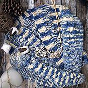 Одежда ручной работы. Ярмарка Мастеров - ручная работа Бомбер вязанный. Handmade.