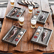 Для дома и интерьера handmade. Livemaster - original item Steak set for the company. Handmade.