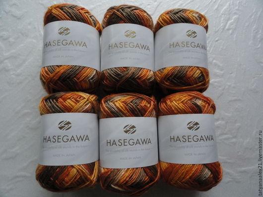 Вязание ручной работы. Ярмарка Мастеров - ручная работа. Купить Пряжа Hasegawa Utage - 3 № 2. Handmade. Зеленый